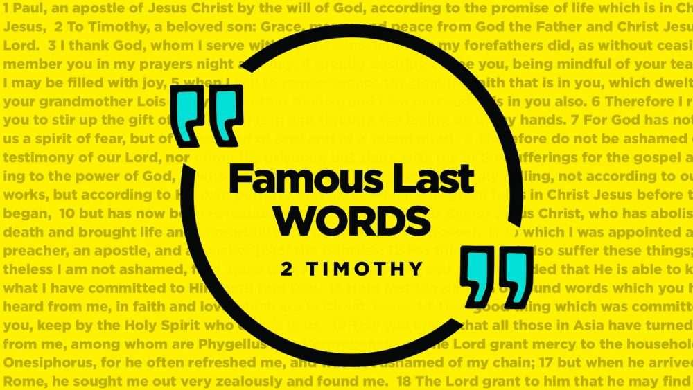 Famous Last Words Series